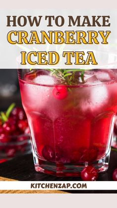 How To Make Tea, How To Make Homemade, Red Hots Candy, Homemade Iced Tea, Making Iced Tea, Iced Tea Recipes, Cranberry Juice, Lemonade, Tea Cups