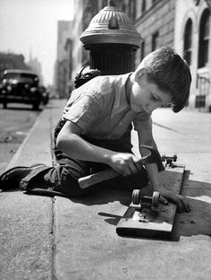 "Old, old school.  OK, been there and done that!  ""Tom, where are your skates?"" Uh, Mom, I used them to make a skateboard.  ""You made a what?"""