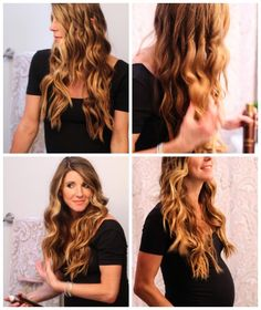 how to use a curling wand  #cliplesscurlingwand #hairtutorial #cellajane