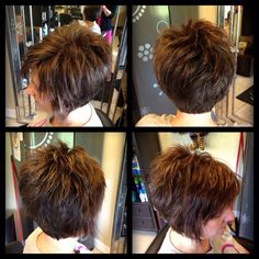 Short Hair Cuts For Women - maallure Short Wedge Hairstyles, Short Layered Haircuts, Graduated Bob Haircuts, Formal Hairstyles, Hairstyles Haircuts, Short Brown Hair, Short Hair Cuts For Women, Medium Hair Styles, Short Hair Styles