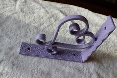 Decorative wrought iron Heart corbel by Scrollworksiron on Etsy