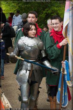 Chevauchée de Jeanne d'Arc lors des fêtes Johanniques 2014