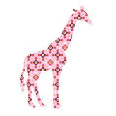 Een mooie giraffe, handgemaakt van behang. 143 centimeter hoog. Leverbaar in diverse kleuren.