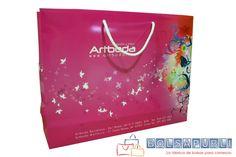 Bolsa de lujo personalizada con cordón y cartón