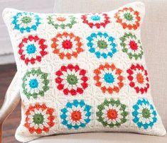 Free Crochet Floral Copenhaggen Pillow Pattern.