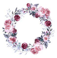 Frame Floral, Flower Frame, Flower Art, Cute Wallpaper Backgrounds, Flower Backgrounds, Flower Graphic Design, Scrapbook Background, Blue Nose Friends, Apple Watch Wallpaper
