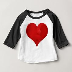Red Heart For Valentine day Baby T-Shirt - valentines day gifts love couple diy personalize for her for him girlfriend boyfriend