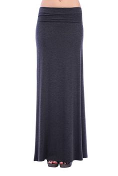 Color- Charcoal  Avialable in 8 different colors   #maxi #skirt