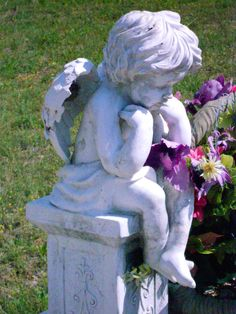 contemplating cherub angel