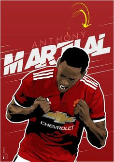 Anthony Martial One Love Manchester United, Manchester United Wallpaper, Manchester United Players, Man Utd Fc, Anthony Martial, Football Fever, Jersey Atletico Madrid, Best Club, Soccer