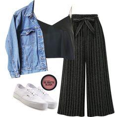 Fashion set Yo te voy a amar created via Teen Fashion Outfits, Classy Outfits, Stylish Outfits, Vintage Outfits, Cool Outfits, Daily Fashion, Fashion 101, Look Fashion, Teenager Outfits