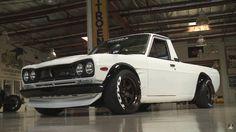 Jay Leno picks up a '74 Datsun Sunny ute from SEMA