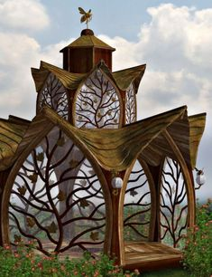 Fantasy Gazebo is a script/utility, fantasy, small structure for Daz Studio or Poser created by Chris Creek and HiveWire and Lisas Botanicals. Garden Art, Garden Design, House Design, Amazing Architecture, Ancient Architecture, Garden Architecture, Architecture Plan, Outdoor Rooms, Outdoor Living