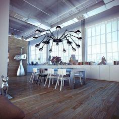 Industrial Loft Visualizations by Ando Studio