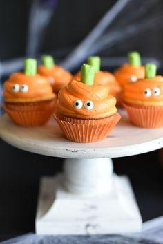 Halloween Cupcakes Easy, Halloween Baking, Halloween Food For Party, Halloween Cakes, Halloween Birthday, Cute Halloween, Halloween Treats, Halloween Pumpkins, Halloween Foods