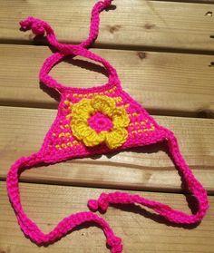 Crochet Baby/Girls Bikini Top by HadleyDesignsCA on Etsy
