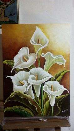 31 Super Ideas For Flowers Art Painting Acrylic Art Floral, Lily Painting, Painting Flowers, Flower Art Drawing, Acrylic Painting Techniques, Beautiful Paintings, Art Pictures, Beautiful Flowers, Watercolor Paintings