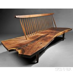 George Nakashima Conoid Bench, American woodworker, architect, and furniture maker who was one of the leading innovators of century furniture design George Nakashima, Unique Wood Furniture, Furniture Design, Walnut Furniture, Cheap Furniture, Architecture Restaurant, Benches For Sale, Bench Designs, Couches