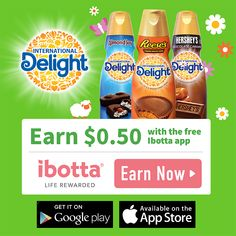 #ad  I don't know about you but I love cash back when shopping for my favorite products.  How about you?  Do you also love coffee? Candy? With International Delight® Coffee Creamer, you can have the best of both worlds with your favorite candy in your coffee! #DelightfulMoments #SplashOfDelight #CollectiveBias http://cbi.as/a1qdw