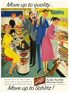 schlitz beer 1950 s mid century modern illustration vintage ads ...