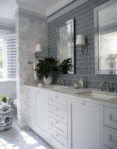 Фото из статьи: 23 роскошные белые ванные комнаты