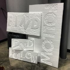 Carved foam panels for church installation