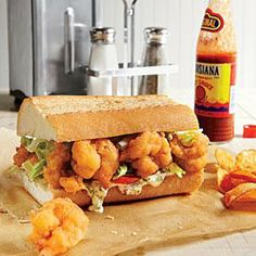 The classic New Orleans Po'boy gets a tasty holiday spin. We packed this sandwich full of our favorite thanksgiving leftovers—from the turkey to the Louisiana Recipes, Cajun Recipes, Southern Recipes, Seafood Recipes, Cooking Recipes, Creole Recipes, Southern Food, Southern Style, Turkey Recipes