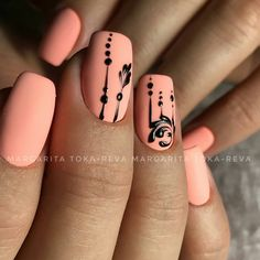 Trendy Nail Designs for Summer that brighten up your look 19 Coral Nails, Gold Nails, Purple Nail, Pretty Nail Designs, Nail Art Designs, Trendy Nails, Cute Nails, Nagel Hacks, Manicure E Pedicure
