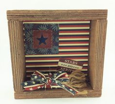 AG Designs Patriotic Decor - Pallet Box Sign - Stars and Stripes.