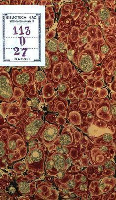 Marbled endpaper and bookbinding by Flavio Aquilina, Biblioteca Nazionale di Napoli - Italy.