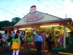 Bobby's Dairy Dip is a fun summer outing for the family. Try their burgers and soft serve icecream.