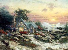 Cottage by the Sea - Thomas Kinkade - World-Wide-Art.com