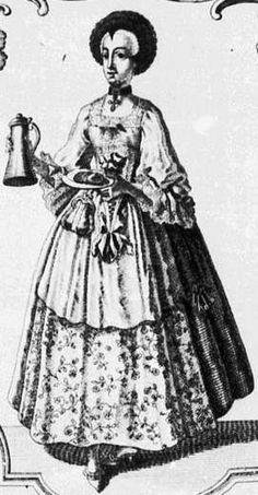 Waitress in Augsburg, c. 1770 anonymous Germanisches Nationalmuseum, Nürnberg. Source: Bildindex