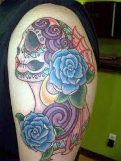 4e85e9c0ba9 Sugar Skull Tattoos And Designs-Sugar Skull Tattoo Meanings And Ideas-Sugar  Skull Tattoo Pictures