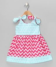c056ec1b86f88 Bellinni by Bebe Bella Designs Aqua   Fuchsia Zigzag Dress - Infant