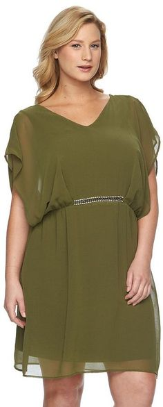 Plus Size Chiffon Kaftan Dress