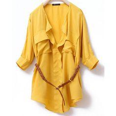 Yellow top.