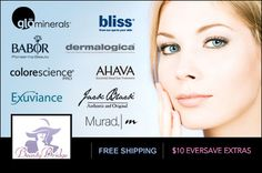 Half off top-of-the-line skincare products like Bliss, glōMinerals, Dermalogica and Murad + free shipping!