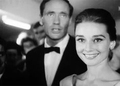 Audrey Hepburn and Mel Ferrer arriving at the premiere of her new movie The Nun's Story at the Zurich Cinema in Switzerland, September 2, 1959.