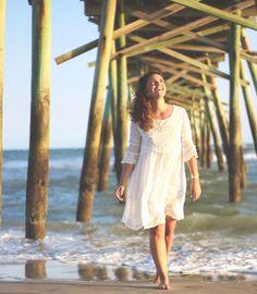 ... Little White ((Beach)) Dress - How 2 Wear It - Pier pictures - little white dress - sammydress - summer white dress