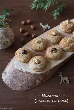 Noisettins (biscuits de Noël) Easy Christmas Cookie Recipes, Christmas Cookies, Gluten Free Cookies, Beautiful Christmas, Chocolate Chip Cookies, Cookies Et Biscuits, Muffin, Yummy Food, Bread