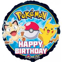 Pokemon Pikachu Birthday Party Decorations Mylar Foil Balloon for sale online Metallic Balloons, Round Balloons, Mylar Balloons, Latex Balloons, Pokemon Happy Birthday, Pikachu Birthday, Happy Birthday Foil Balloons, Happy Birthday Parties, 5th Birthday