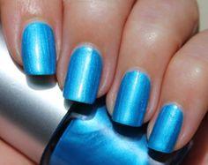 Atlantic Ocean Franken Nail Polish - Bright shimmery blue color