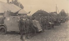 Review of armored units of the Lithuanian army, armed with light British tanks Vickers-Carden-Loyd Mk.IV and armored vehicles Swedish Landsverk L181;Radviliškis city;8 th September 1935, the British Tanks, Interwar Period, Armored Vehicles, Lithuania, Monster Trucks, Army, The Unit, Military, Military Photos