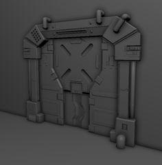 ArtStation - Sci Fi door - Game Asset, Matthew Woods