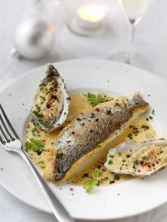Recette de Filets de bar, beurre blanc aux huîtres et Champagne