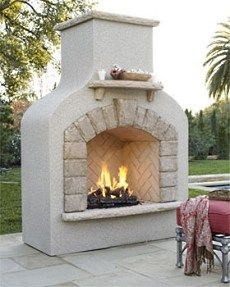 Stucco fireplace with flagstone accents fireplaces and firepits outdoor gas fireplaces solutioingenieria Image collections