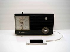 ipod speakers made from vintage radios