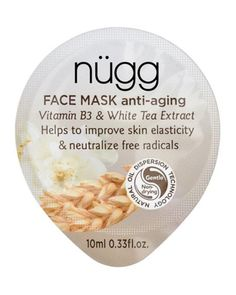 This mask if perfect for fans of naturally derived beauty products. Prevent environmental damage and free radicals from forming with wheat germ oil and white tea extract, all while reducing lines and wrinkles. Anti-Aging Face Mask, NÜGG $17