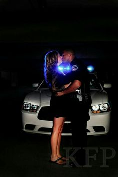 Police engagement photo Police Engagement Photos, Engagement Pictures, Wedding Engagement, Engagement Ideas, Police Officer Wedding, Police Wife, Police Family, Couple Photography, Engagement Photography